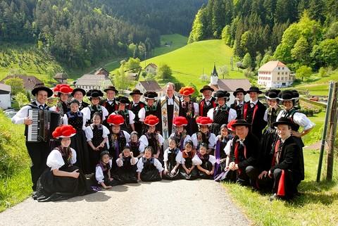 Trachtentanzgruppe Kirnbacher Kurrende in Kirnbach bei Wolfach, Kinzigtal, Schwarzwald