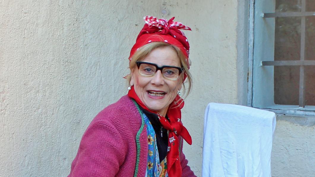 Wilma Strupferer auf Putzfrauen-Tour