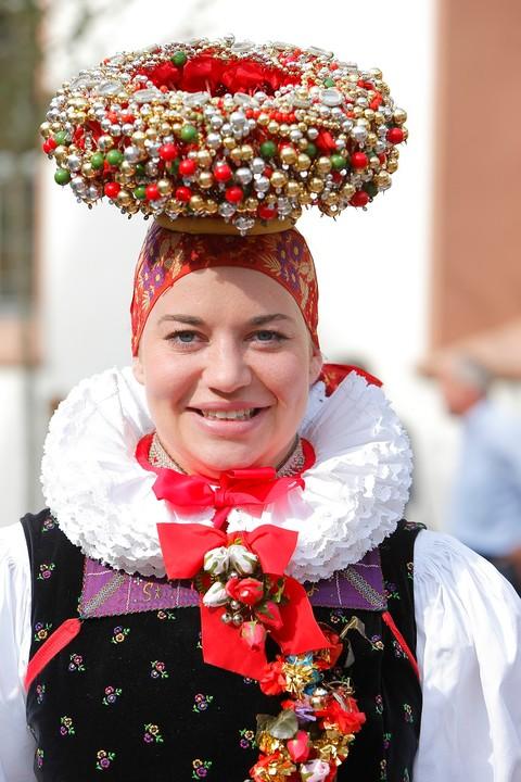 Trachtenmädchen mit Schäppel in Hornberg-Reichenbach