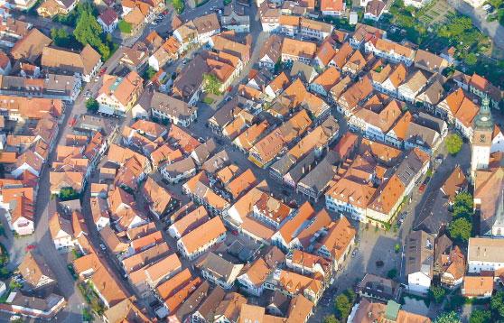 Luftbild Haslacher Altstadt