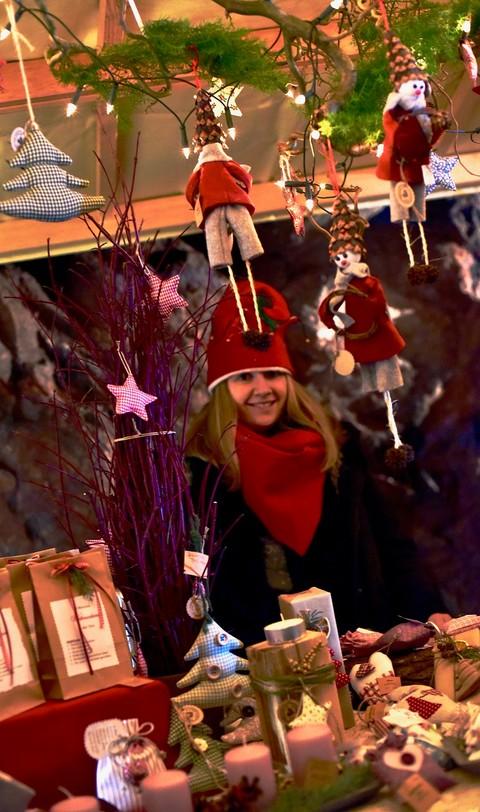 Wichtel in der Weihnachtsmann-Werkstatt auf Schloss Hornberg