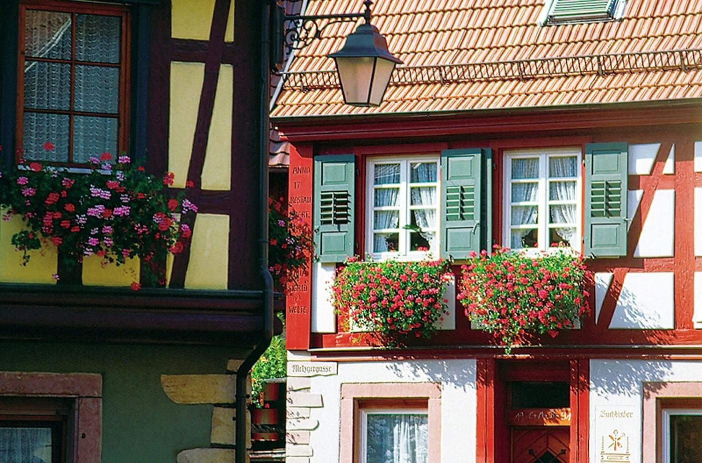 Fachwerkhäuser in der Altstadt von Haslach im Kinzigtal
