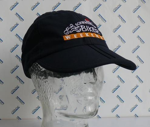 Faltcap mit besticktem Logo Schwarzwald Biker-Weekend