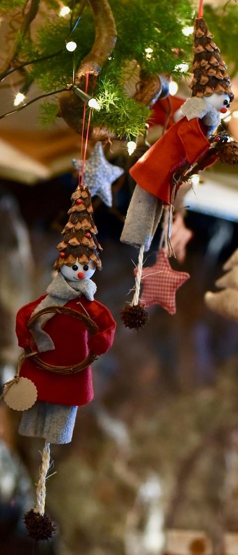 Deko bei der Weihnachtsmann-Werkstatt auf Schloss Hornberg im Kinzigtal