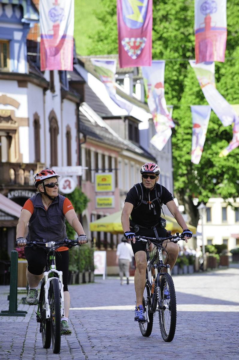 Radfahrer in Wolfach